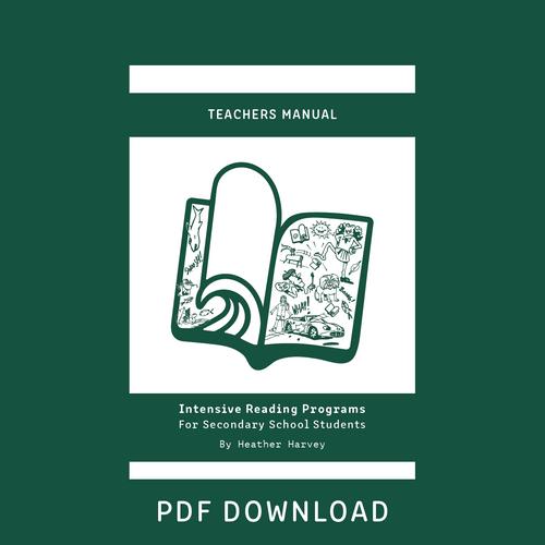 Digital -  Secondary Teacher's Manual - Reading Age < 8.6 - 10.6