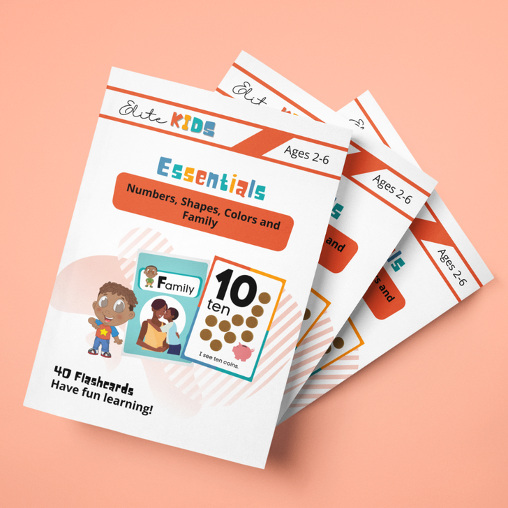 Preschool essentials flashcards for toddlers and preschool students numbers family colors shapes