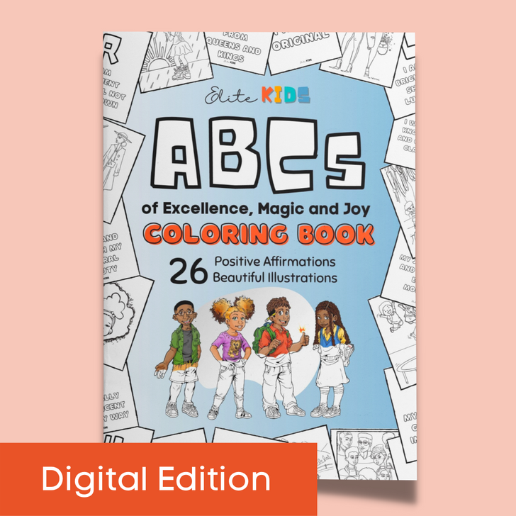 ABCs of Excellence Magic and Joy Affirmation Coloring Book for Kids Digital Download printable