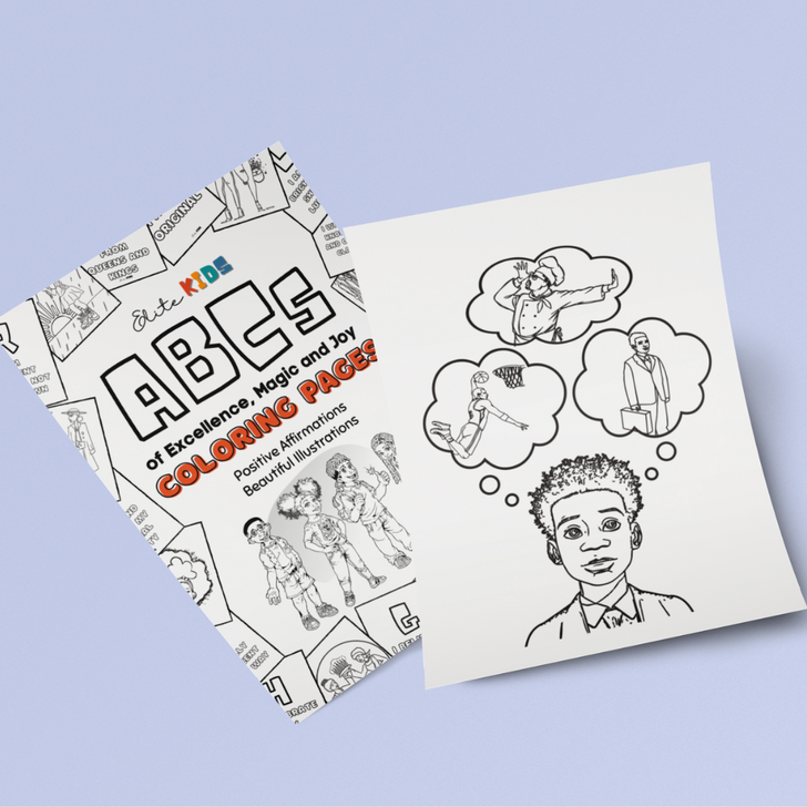 C is for Capable Affirmation Coloring Page
