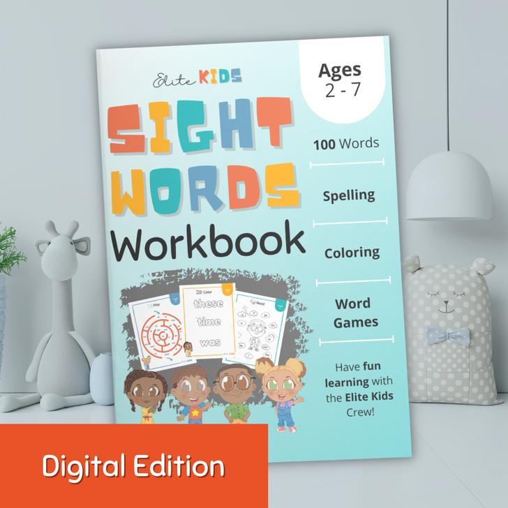 Fry Sight Words workbook for toddlers, preschool, kindergarten digital printable