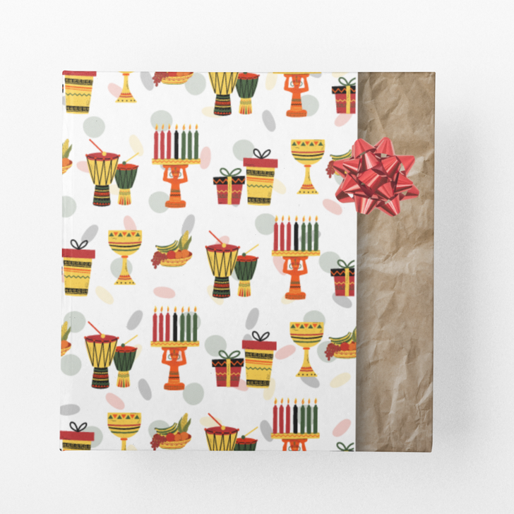 Kwanzaa themed wrapping paper