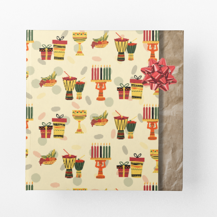 Happy Kwanzaa Wrapping Paper (Yellow)