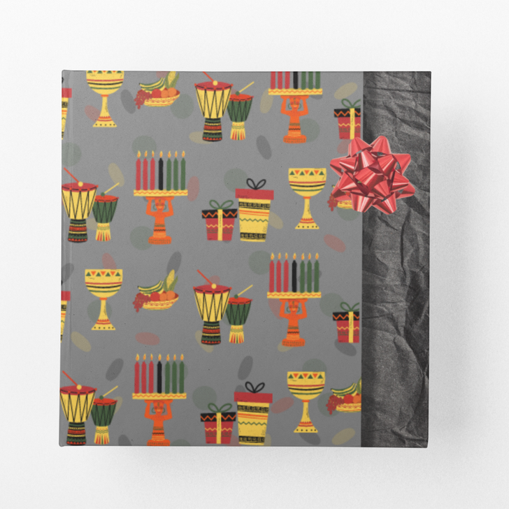 Happy Kwanzaa Wrapping Paper (Black)