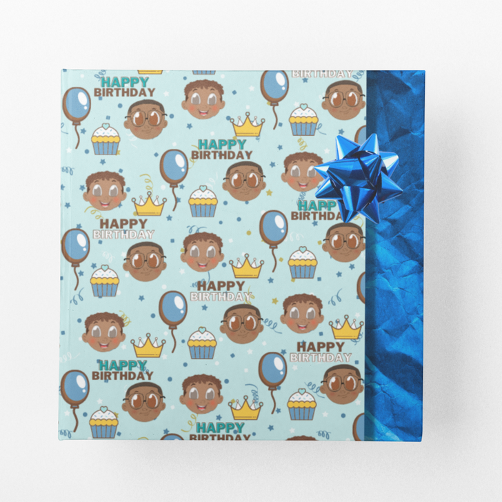 Birthday Wrapping Paper for Boys