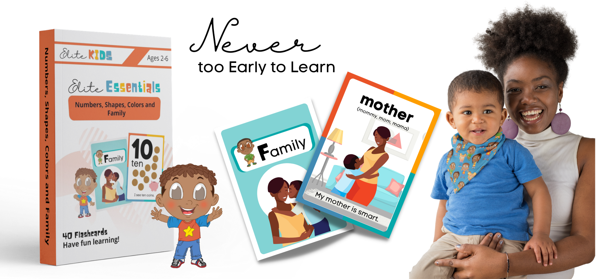 Numbers Shapes Colors Family Flashcards PreK Toddlers