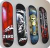 floating mount skateboard display