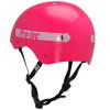 pink girl's skateboard helmet