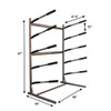 sup storage freestanding floor rack