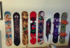 hang your snowboard decks on the wall