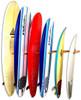 Vertical Surfboard  Wall Rack | Solid Oak Wood | 6 Surfboard Storage
