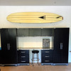 garage surfboard display storage