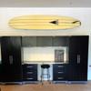 garage surfboard display storage