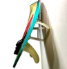 surfboard with fins wall rack