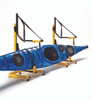 freestanding kayak rack with boat in it