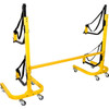 suspenz freestanding rack with caster and crossbar