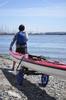 fishing kayak rolling cart