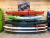 organized paddleboard garage storage