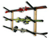 wooden ski wall rack