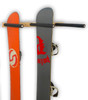 vertical snowboard and ski storage rack