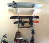 surfboard snowboard and skateboard home storage rack