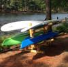 kayak paddleboard outdoor log storage rack