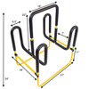 floor surfboard stand dimensions