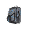 blue camo pull handle padded ski boot bag