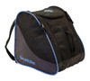 blue ski boot and gear bag