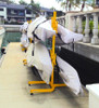 outdoor freestanding kayak and paddleboard rack