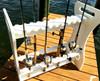 freestanding 24 rod fishing organizer