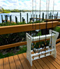 PVC outdoor fishing rod stand