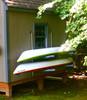 outdoor kayak wall storage