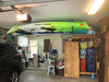 how to hang kayaks from garage ceiling