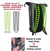 waterproof backpack interchangeable silicon straps