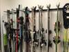 organized garage skis storage