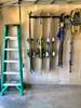 how to hang skis on garage wall