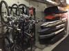 organized garage bike storage