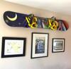 snowboard wall rack for displaying art