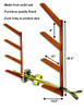 Timber Ski Wall Rack | Holds up to 8 Pairs of Skis