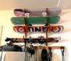 wood snowboard wall storage rack