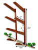 Timber Skateboard Wall Rack | Solid Oak | Holds up to 4 Skateboards