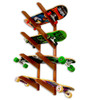 Timber Wood Longboard Wall Rack | Solid Oak | Holds up to 4 Longboards