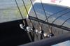 adjustable truck bed fishing rod rack