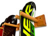 vertical ski wall hanger