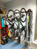 garage bike rack with skis