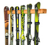 Handcrafted Vertical Cedar Wall Rack | Holds up to 6 Pairs of Skis | Demo