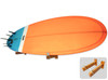 floating wooden surfboard wall mount display