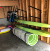 how to hold paddleboards on garage wall
