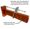 adjustable surfboard wall rack